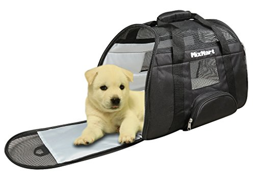 Mixmart Trasportino Morbido per Cani e Gatti, Cuccia/Borsa da Trasporto Airline/auto per Cuccioli, Animali Domestici