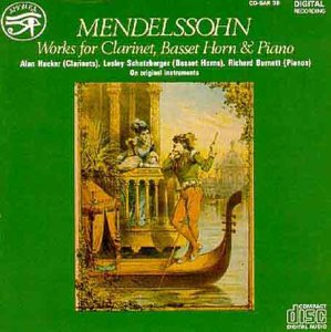 Felix Mendelssohn, Works for Clarinet and Piano