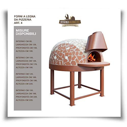 Horno de leña/gas Napolitano de pizzería profesional (diámetro 120 cm)