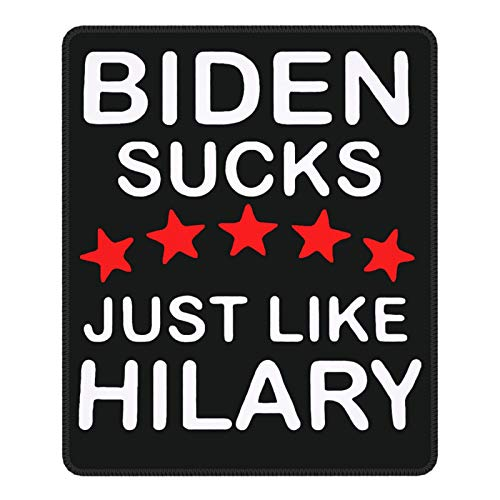 Biden Sucks Like Hilary Premium Textured Non-Slip Rubber Mouse Pad for Gaming, Office and Home Mouse Pad Seamed 7.9 X 9.5 Inches