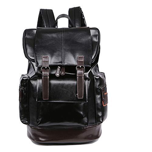 Rucksack Herrenmode Trend PU Leder Weichleder Rucksack Schultasche personalisierte Tasche
