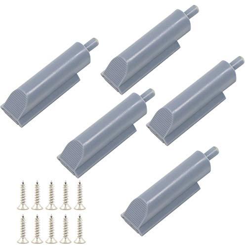 Amortiguador de Puerta de Muebles 5 Piezas Plástico Bisagra de Cajón para Cierre de Latch Amortiguador de Push to Open Sistema para Puertas de Armario Reducción de Ruido y Amortiguación.