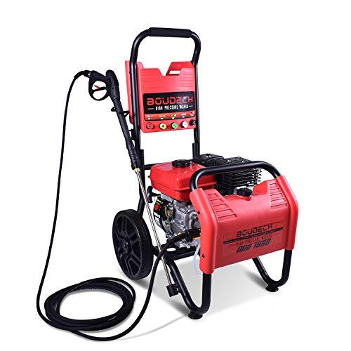 BOUDECH - PRO 7000 - Idropulitrice Termica Ultra-Potente con Motore a Scoppio OHV 7hp 4T con 5 ugelli e Contenitore per detergente Integrato
