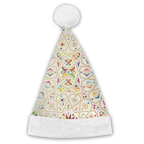 Bag hat Marokko Zerfall Vorlage Weihnachtsmütze Weihnachten Weihnachtsmütze Kurzer Plüsch mit weißen Manschetten Plüsch Weihnachtsmütze für Erwachsene 2 STÜCKE