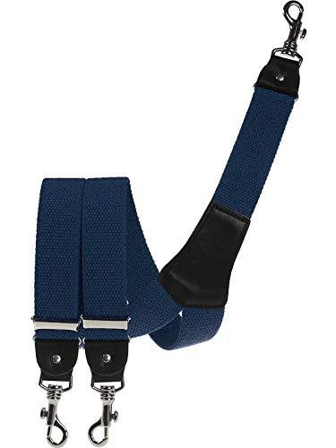 Harrys-Collection Herren extra starker Hosenträger mit Karabinerhaken, Größen:120 cm, Farben:blau
