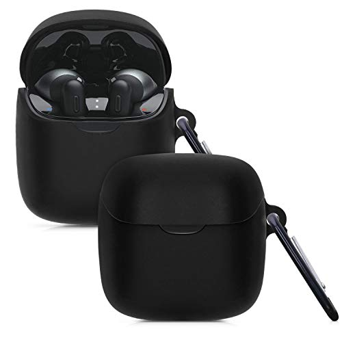 kwmobile Schutzhülle kompatibel mit JBL Tune 220TWS - Hülle Kopfhörer - Silikon Hülle Cover Schwarz