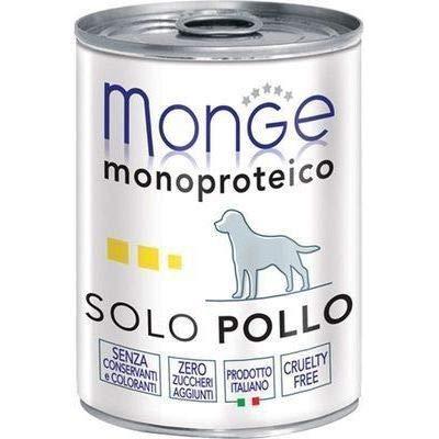 Monge Monoproteico Solo Pollo Alimento Umido per Cani 12 X 400gr