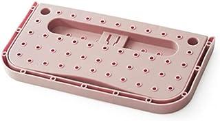 シューズラック 4個セット スリッパホルダー 折り畳み式 壁掛け式 スリッパラック 壁掛け セット スリッパホルダー シューズスタンド スリッパ サンダル 収納 玄関収納用 浴室用 (ピンク)