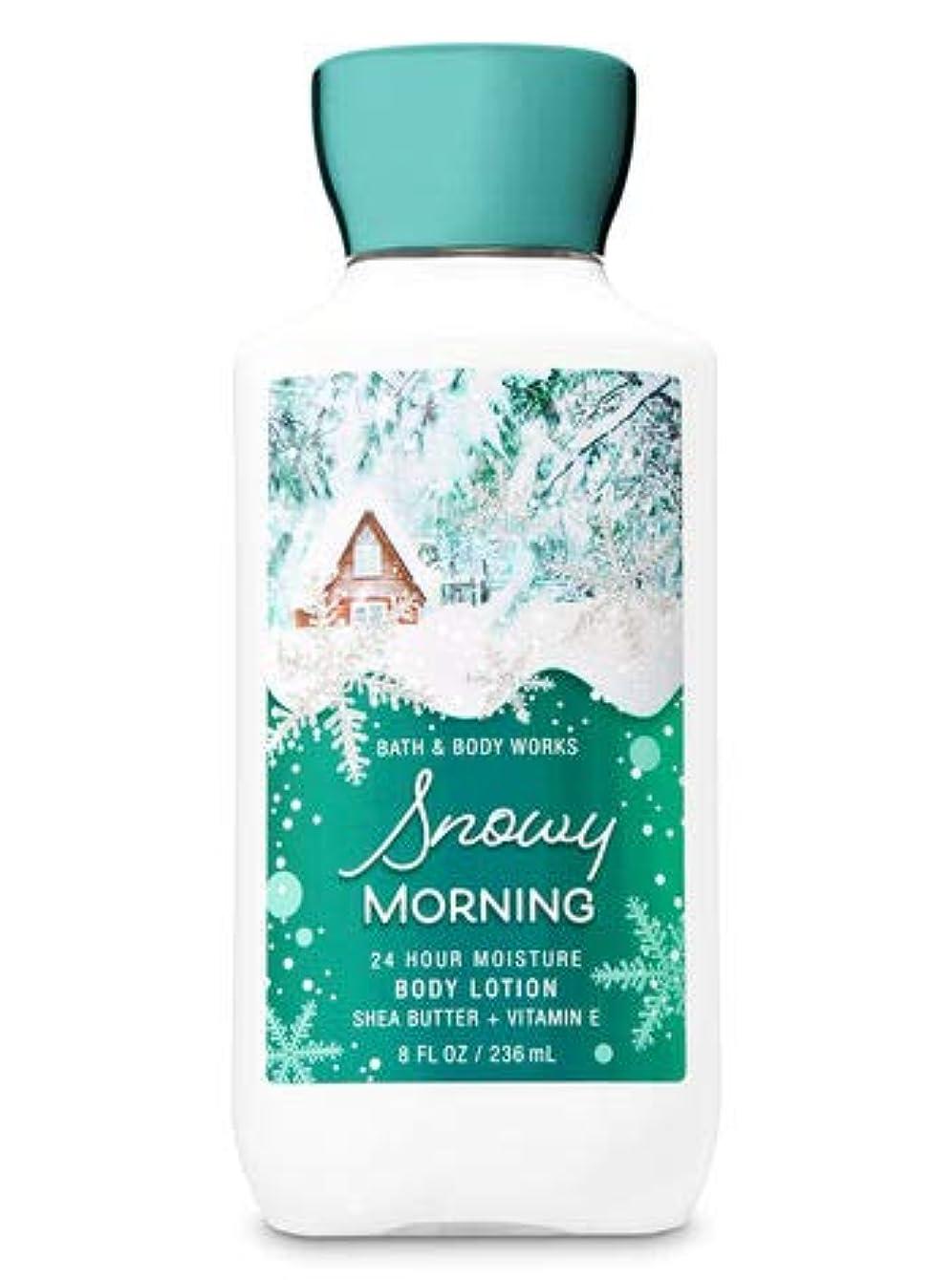 甲虫前方へ実行【Bath&Body Works/バス&ボディワークス】 ボディローション スノーウィーモーニング Body Lotion Snowy Morning 8 fl oz / 236 mL [並行輸入品]