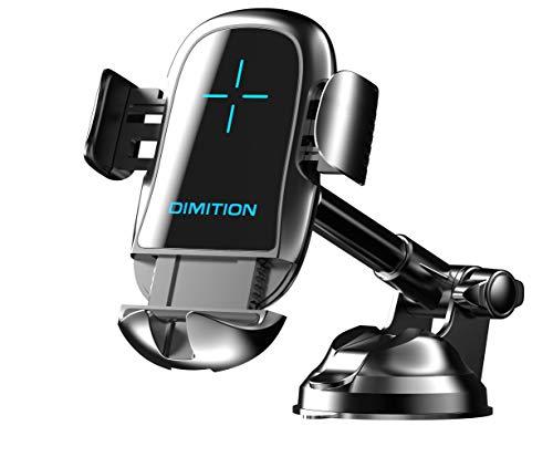 Dimi 車載ホルダー ワイヤレス充電器 3in1 スマホホルダー qi 10W/7.5W 急速充電対応 置くだけ オートホールド 携帯ホルダー 片手操作 iPhone&Android 各スマホ対応