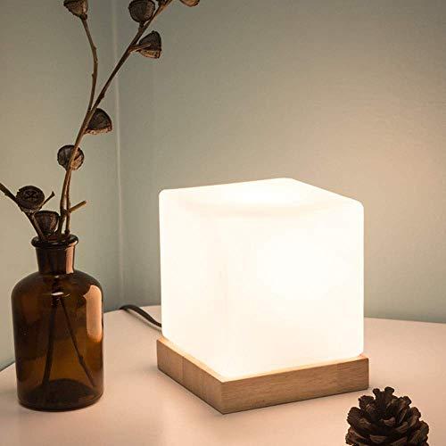 Lámpara de Mesa Lámpara Individual de Hielo, lámpara LED de Cuatro Cristales, lámpara de Noche, luz de Noche Creativa (12,5 * 12,5 * 15 cm)