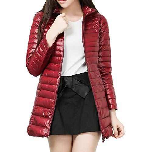 KPPONG Jacke Damen Stehkragen Daunenjacke Große Größen Steppjacke Leicht Übergangsjacken Soft Gesteppte Jacke Parka