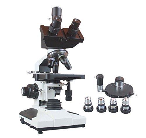 Radical 2500x High Power Professional Trinokular Forschung Phase Kontrast LED Mikroskop für Blut Sperm Bakterien Analyse W Akku Backup und Kamera Port