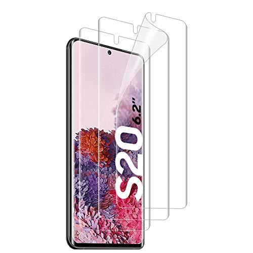 ANWESIR [3 Pezzi] Pellicola Protettiva per Samsung Galaxy S20, [Copertura Massima] [Compatibile con la Custodia] [Senza Bolle] HD Trasparente Morbido...
