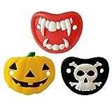 Toyvian 3 Piezas chupetes Divertidos de Halloween Calavera de Calabaza Vampiro...