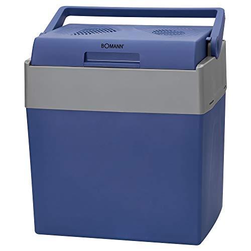 Bomann Kühlbox KB 6012 CB ECO Save // Ideal für Camping, Reise und Einkauf // 12- bzw. 230 Volt-Anschlusskabel // auch zum Warmhalten geeignet // ca. 30 L // blau-grau