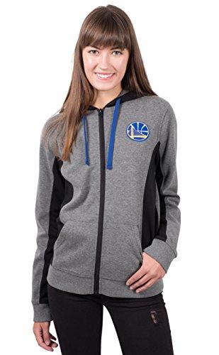 UNK NBA Women's Golden State Warriors Full Zip Hoodie Sweatshirt Jacket Dime, Medium, Gray