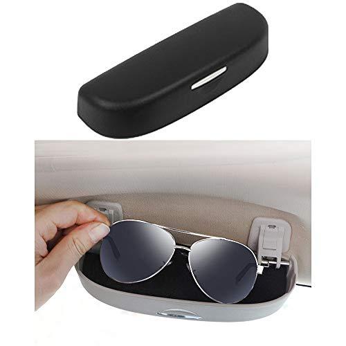 Brillenhalter für Auto Sonnenblende Sonnenbrillen Brillen für 320 328 F07 F10 F11 F48 520 528 X1 X3 X5 E90 E91 F31 F34 F30 (Schwarz)