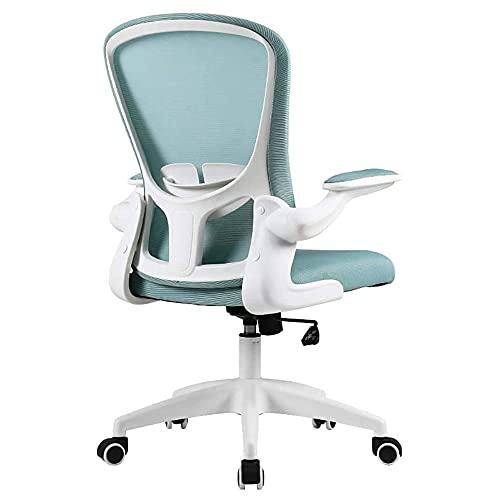 COUYY Studio Sedia Scrittura Sedia sedentaria per Uso Domestico Ufficio ergonomico Schienale sedentario,Blue b