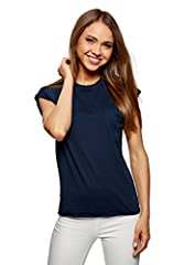 oodji Ultra Mujer Camiseta de Algodón (Pack de 2)