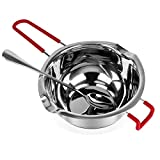Stainless Steel 680ml Double Boiler Pot with Heat Resistant Handle for Melting Chocolate, Candy and...