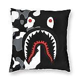 Geinum Blood Shark Pillowcase Plush Squre Pillowcases Super Soft Pillow Protector Cover-18in X 18in