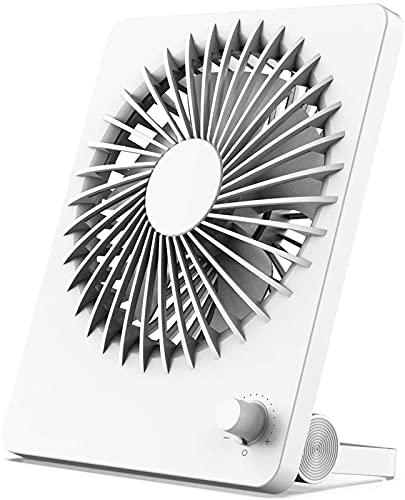 Ventilador de escritorio portátil USB recargable 2000 mah batería, soporte de sujeción 3 en 1 y funcionamiento silencioso colgante, enfriamiento Mini pequeño plegable 180 ° para oficina, hogar, dormit