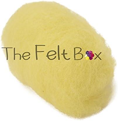 Lana cardada para fieltro fieltro de aguja pantalla /única lana artesanal lana de lana 100 gramos