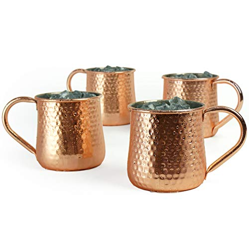 4pcs Copper Plated Moscow Mule Mugs