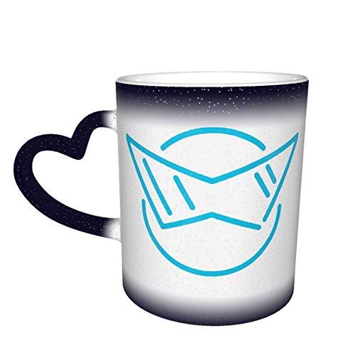 Tazas mágicas de café sensible al calor de neón azul Squirtle Color lindo café té taza de calor cambiante única
