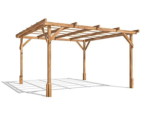 Dunster House Wooden Pergola Garden Canopy Shade Kit Utopia (W3m x D3m)