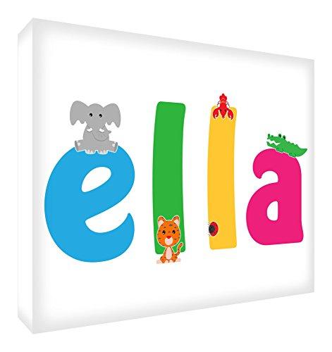 """Feel Good Art Tarjeta de recuerdo de bebé con diseño de diamantes, diseño con texto en inglés """"Ella"""", 10,5 x 15 x 2 cm, tamaño mediano, Ella)"""