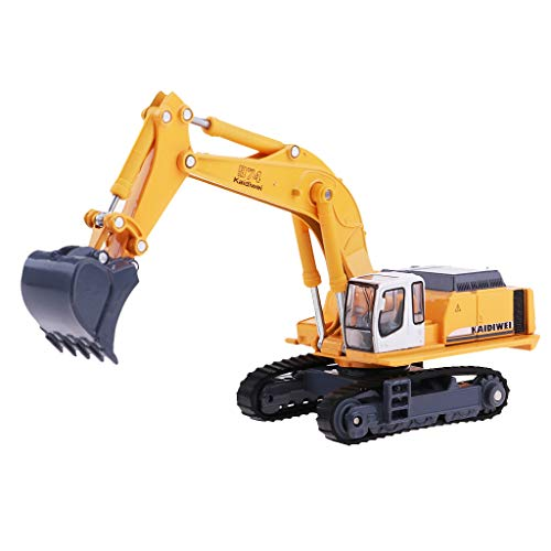 F Fityle 1:87 Escavatore di Camion di Ingegneria, Escavatore di Autocarro con Cassone Ribaltabile Articolato Pressofuso