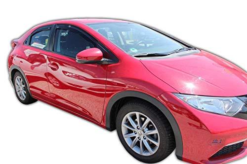 Tappetini in gomma per Honda Civic 7 posteriore acciaio per Hatchback 5-PORTE 2001-2006 Nero