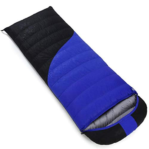 DAFREW Sac de Couchage d'enveloppe, Sac de Couchage extérieur Quatre Saisons avec Sac de Compression (Couleur : Blue 2, Taille : 0.8KG)