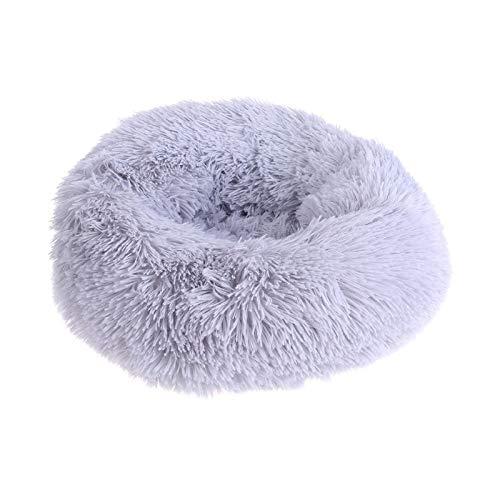 Cama redonda para mascotas, perro, gato, cama, sofá nido, cojín de felpa suave, cama para mascotas, cama ultra suave, cama cómoda para mascotas, para interiores y exteriores, camas para mascotas 50 02.