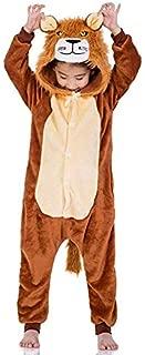 Onesie World Unisex Animal Pyjamas Cosplay Lion Kid Onesie Nightwear Halloween Carnival Novelty