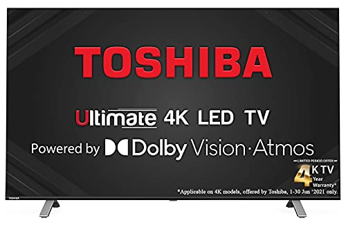 Toshiba 139 cm (55 inches) Vidaa OS Series 4K Ultra HD Smart...