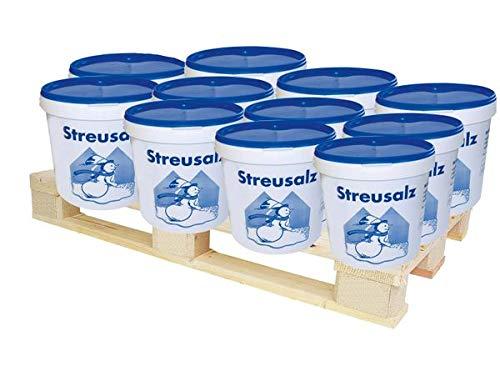 Hamann Streusalz 650 kg (65 x 10 kg) - Deutsches Steinsalz leicht streubar & hoher Anteil tauwirksamer Substanzen