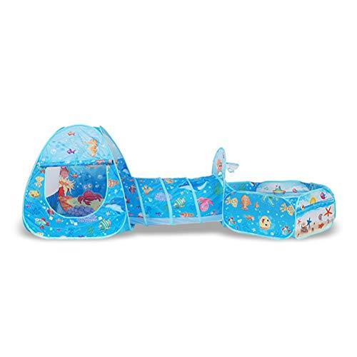 Hbao Juguetes Plegables para bebés, Piscina de Bolas, Carpa portátil para bebés, casa, túnel de Arrastre, océano, Juegos Interiores al Aire Libre, Carpa para niños, casa de Juego (Color : F)