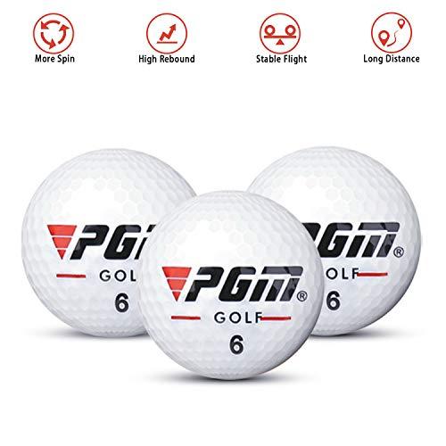 KATELUO Golfbälle Distance, Hoher Rückprall, Weiß, Perfekt für Hobbygolfer und Anfänger (3 Stück)