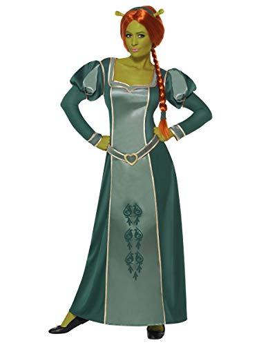 Fancy Me Damen Offiziell DreamWorks Shrek Prinzessin Fiona lang voll Länge Film Halloween Kostüm Kleid Outfit - Grün, 12-14