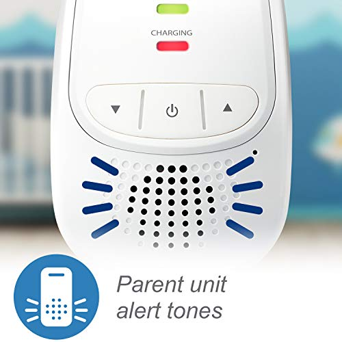 VTech DM111 Audio Baby Monitor with up to 1,000 ft of Range, 5-Level Sound Indicator, Digitized Transmission & Belt Clip