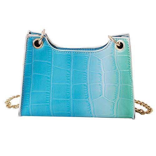 WEIQUN Handbag,Shoulder Bags,Y2k Bag,Diagonal bag,Fashion casual gradient pu leather ladies chain shoulder bag, Suitable For Dating, Shopping, Parties