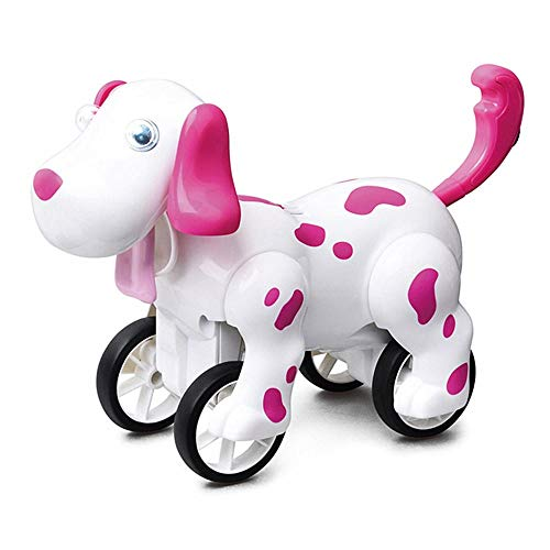 CHENSHJI Robots de Juguete para niños 2.4G Barking Dog Pino Robot Que Camina Perro de Juguete Inteligente del Robot RC (Color : Pink, Size : 21.5x9x14.2cm)
