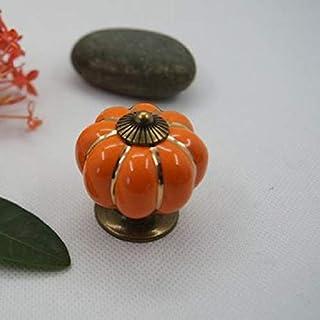 シンプルライフ、ライフアシスタント 牧歌主義のカボチャセラミックノブキッチンセラミックドアキャビネット食器棚ハンドル(オレンジ)、これらのセラミックノブはドア、キャビネット、ワードローブにインストールに最適です。 (色 : オレンジ)