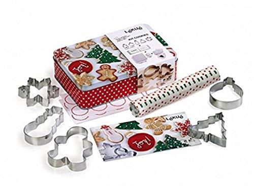 Lékué - Kit para hacer galletas de Navidad