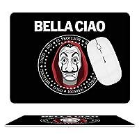 マウスパッド レザー デスクマット ポップテレビ マネーハイストBella Ciao まうすぱっど PCマット ゲーミングマウスパッド キーボードパッド おしゃれ 防水 滑り止め 革製 オフィス ゲーム かわいい 大型 耐久性が良い 20.5*25.5cm