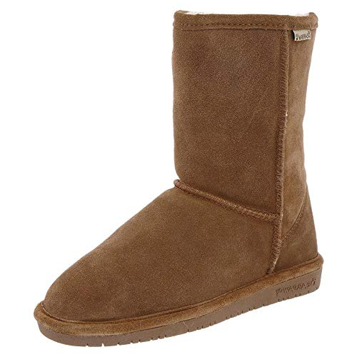BEARPAW Women's Emma Short Boot,Hickory/Champagne,8 M US