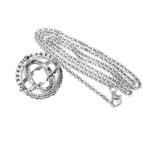 Anillo plegable para San Valentín, diseño astronómico, estilo retro, vintage, esfera astronómica, anillo de bola plegable y cósmico, regalo para mujeres y hombres, 5#, Aleación de Zinc,